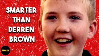 Little Boy Out Smarts Derren Brown Costing Him £100 | Trick Of The Mind Ep1 | Amaze