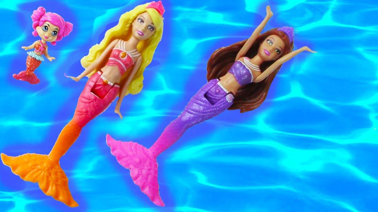 Uncategorized Mermaid Barbie Videos trapped mermaid part 1 barbie mini doll series the pearl princess sisters friends youtube