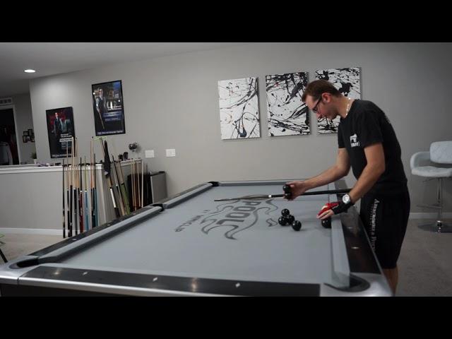 DAILY Pool Trick Shot - DAY 10!! - Monster Machine Gun Masse - Venom Trickshots