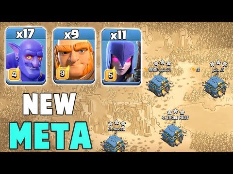 New Trend 2019! 17 Bowler +9 Giant +11 Witch Destroy 3Star Max TH12 Base | Clash Of Clans