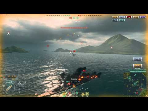 World of Warships: Furutaka Heavy Cruiser Gameplay