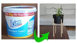 YOĞURT KABI OLDUĞUNA KİM İNANIR ♻️ / Geri Dönüşüm / Recycle / Kendin Yap