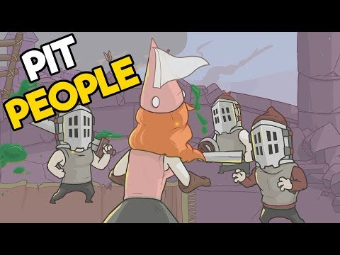 Pit People Gameplay Impressions 2018 - Castle Crashers New Strategy Game!