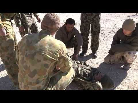 Australian Army trains Afghan National Army on tripwires and other battle drills