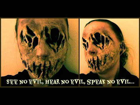 Creepy Special Effects Make-up tutorial - See no evil, hear no evil, speak no evil