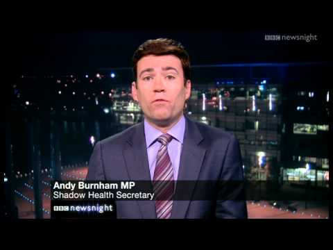 Peston interviews Andy Burnham on NHS privatisation - Newsnight