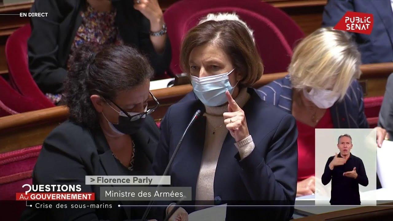 Download Violent incident de séance au Sénat pendant une réponse sur la crise des sous-marins
