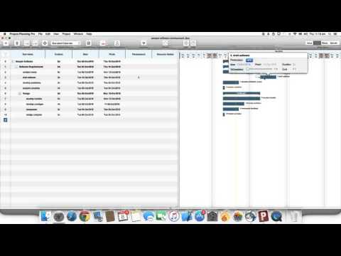 Project Planning Pro For Mac OS X: How To Add Predecessors
