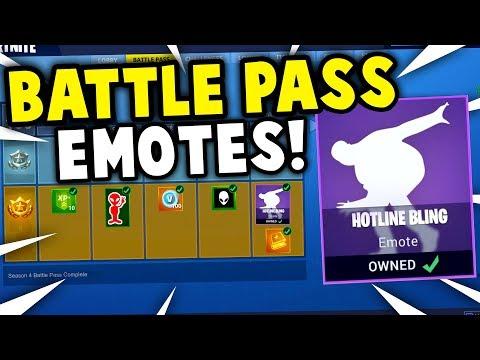 BATTLE PASS SEASON 4 EMOTES CONFIRMED! *NEW* Battle Pass Skins + Giveaway!