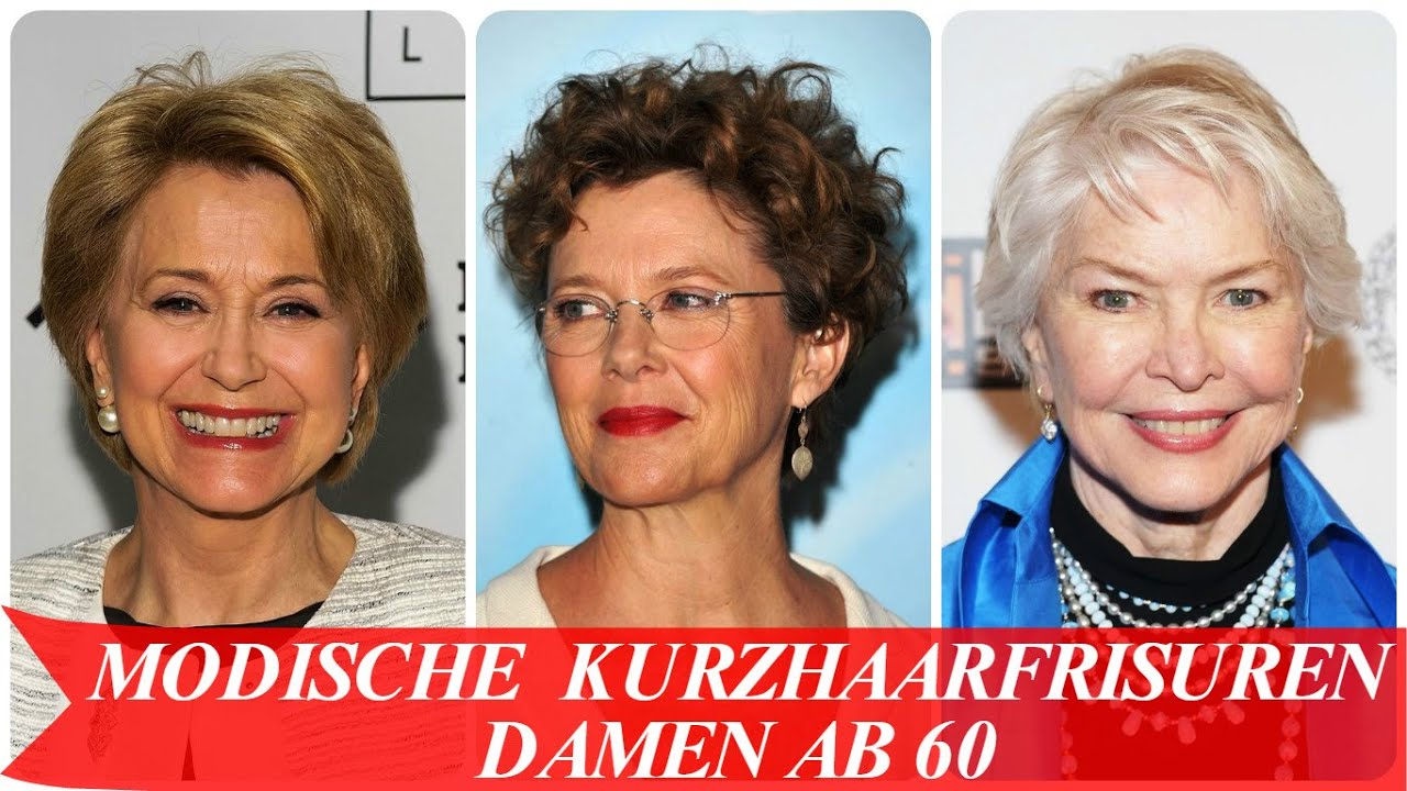 Modische Kurzhaarfrisuren Damen Ab 60 Youtube
