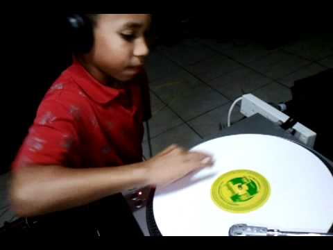 My 10 yr old nephew Trei showing his DJ skills
