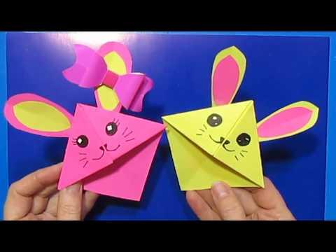 Оригами из Бумаги Закладка в книгу, дневник. Подарки поделки Друзьям Своими руками/ Мышки Оригами