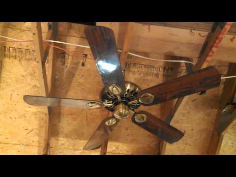 "Hunter ""Second Century Original"" Ceiling Fan model 23900 in antique brass"