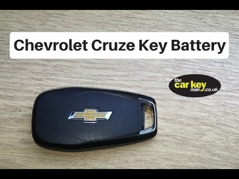 Chevrolet Cruze Flip Key Battery Change HOW TO
