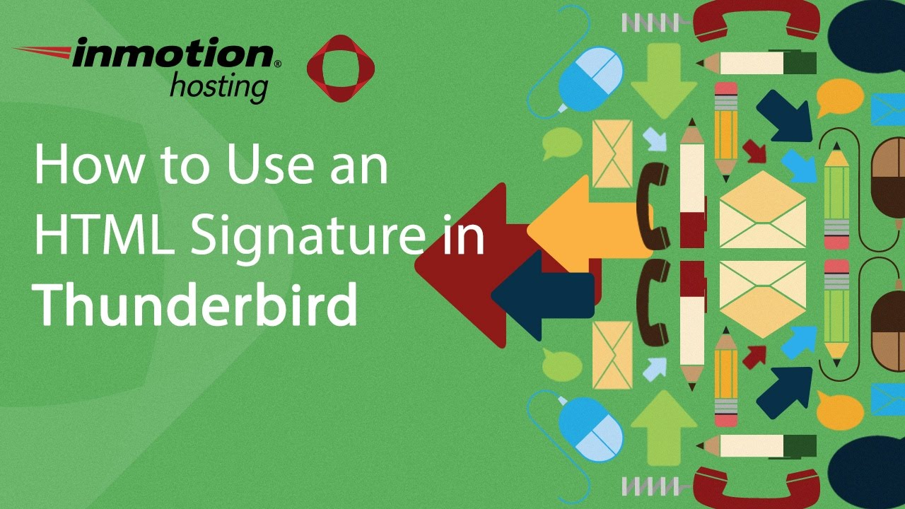 how to set up signature in thunderbird mac