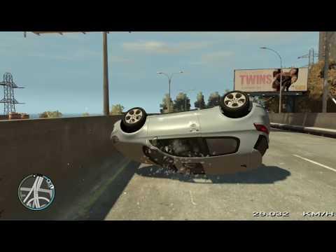 GTA 4 Crash Testing Real Car Mods #4