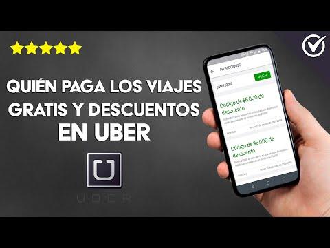 Quién paga los Viajes Gratis, Descuentos y Promociones en Uber, Conoce los Detalles