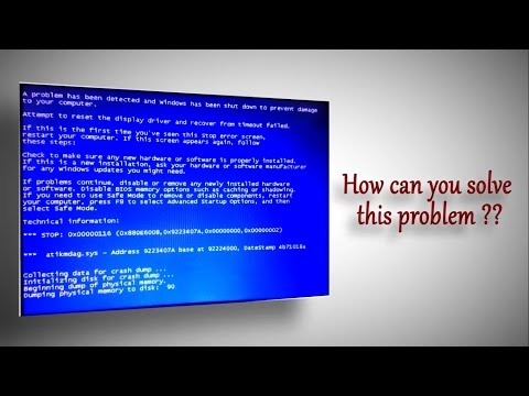 Windows Startup Problem / Repair - Blue Screen / Black Screen ( 3 Solutions)