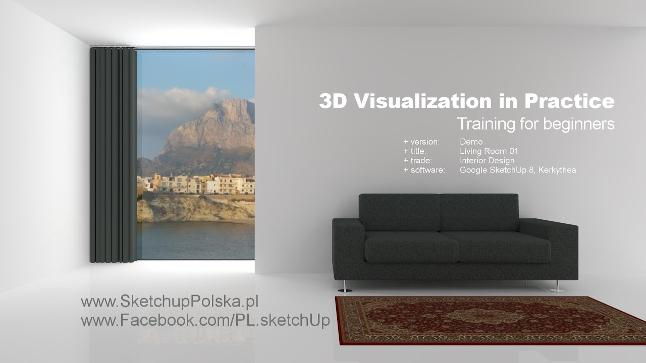 3d Visualization In Practice Training For Beginners Interior Design Youtube