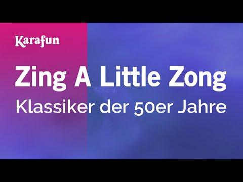 Karaoke Zing A Little Zong - 1950s Standards *