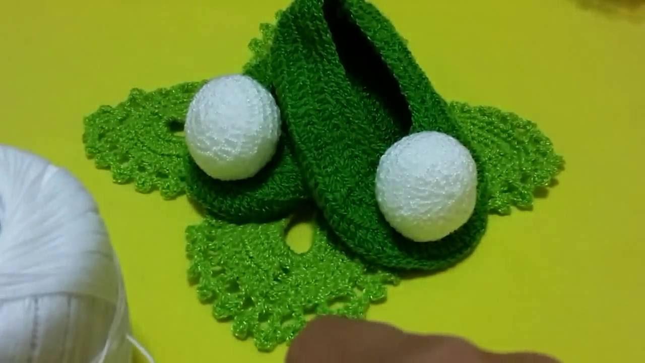 Zapatitos para niñas👼#1en crochet de campanita - YouTube