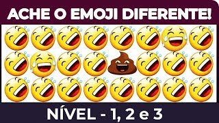 TE DESAFIO A ENCONTRAR O EMOJI INTRUSO! NIVEL 1, 2 e 3