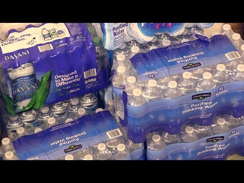 Jenkins students collecting water for Harvey victims