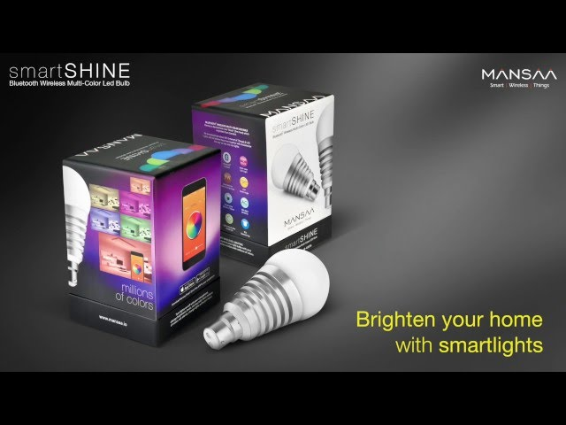Mansaa SmartShine Bluetooth Wireless LED Light Bulb
