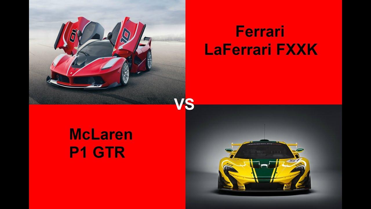 McLaren P1 GTR vs Ferrari LaFerrari FXXK Sound Battle Stats