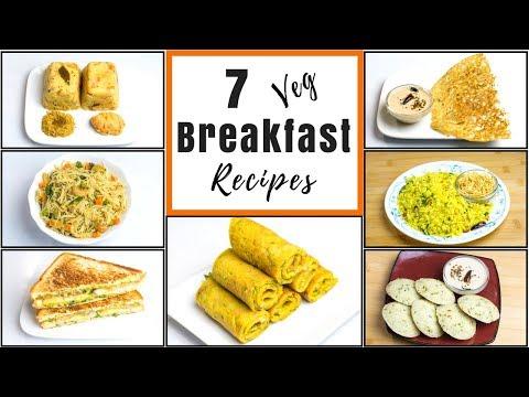 7 Breakfast Recipes | Easy n Healthy Veg Breakfast Ideas | Daily Indian Breakfast Recipes