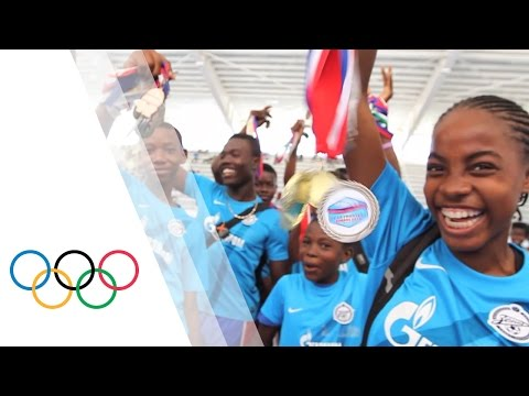 Sport for Hope Centre in Haiti commemorates the opening of the Olympic Games in Rio 2016