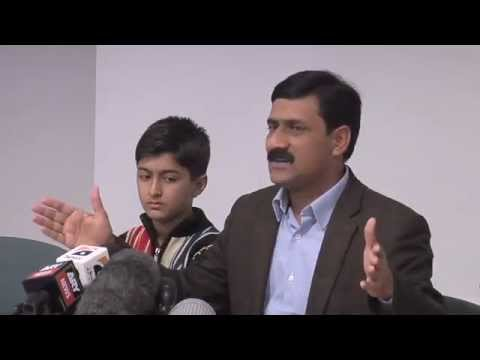 Ziauddin Yousufzai speaks to the press, Friday 26 October 2012