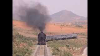 China - Parallel filming, Heavy Limestone Train - Huludao 2004 (Part 2)