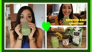 Kale Smoothie Recipe! Super Easy & Delicious!!