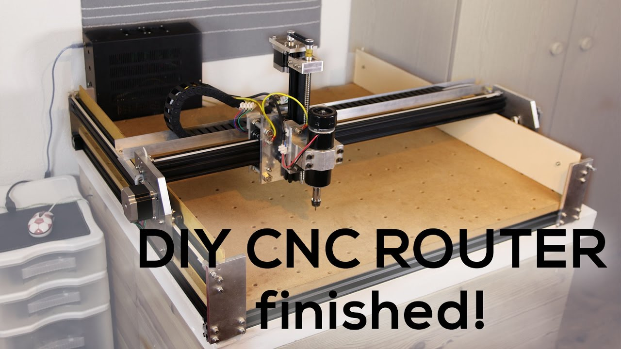 Custom Diy Cnc Router 4 It S Finished Youtube