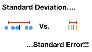 Standard Deviation vs Staฑdard Error, Clearly Explained!!!