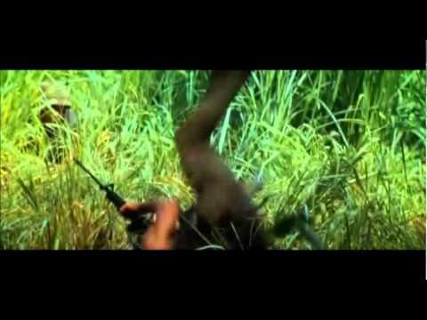 """Tropic Thunder"" Ben Stiller Hilarious Ambush Shootout Scene"