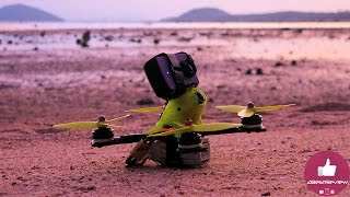 ✅FPV Flight - Purple Sunset with Flyfish Drone 2017