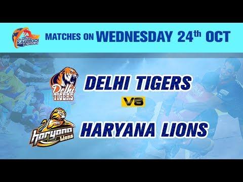 Global Kabaddi League 2018 | Delhi Tigers V/S Haryana Lions