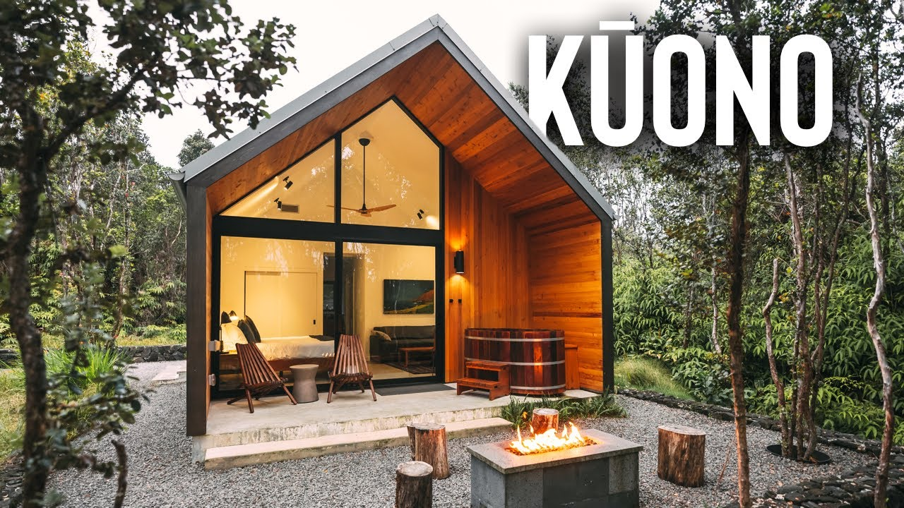 Forested Kuono Cabin Airbnb Tour Modern Cabin In Hawaii Youtube