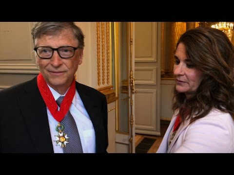 Bill et Melinda Gates. L'émotion à l'Elysée