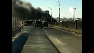 NJ Pulaski Skyway fire smokes recorded on tape