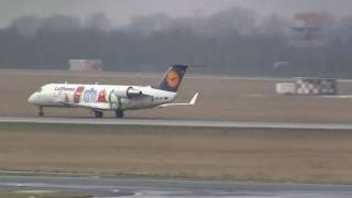Lufthansa Bombardier CRJ200 *Little Europe c/s* startet am Flughafen Düsseldorf 16:9+HD