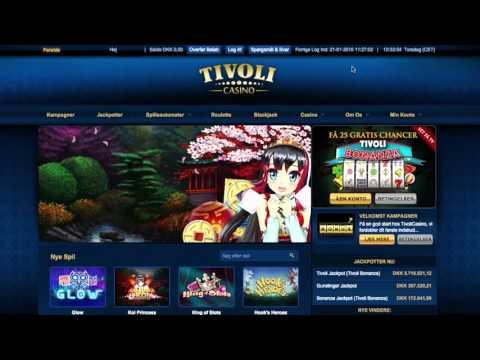 Tivoli Casino anmeldelse: Bonuskode = 1.000 kr. + 80 free spins