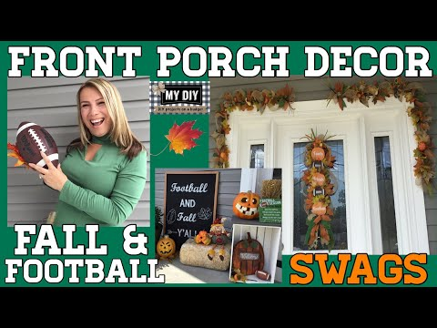 Front Porch Decor Ideas    Football and Fall Y'all   ON A BUDGET!