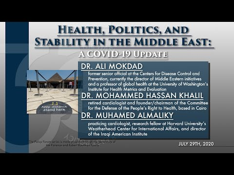 Health, Politics, and Stability in the Middle East: A COVID-19 Update