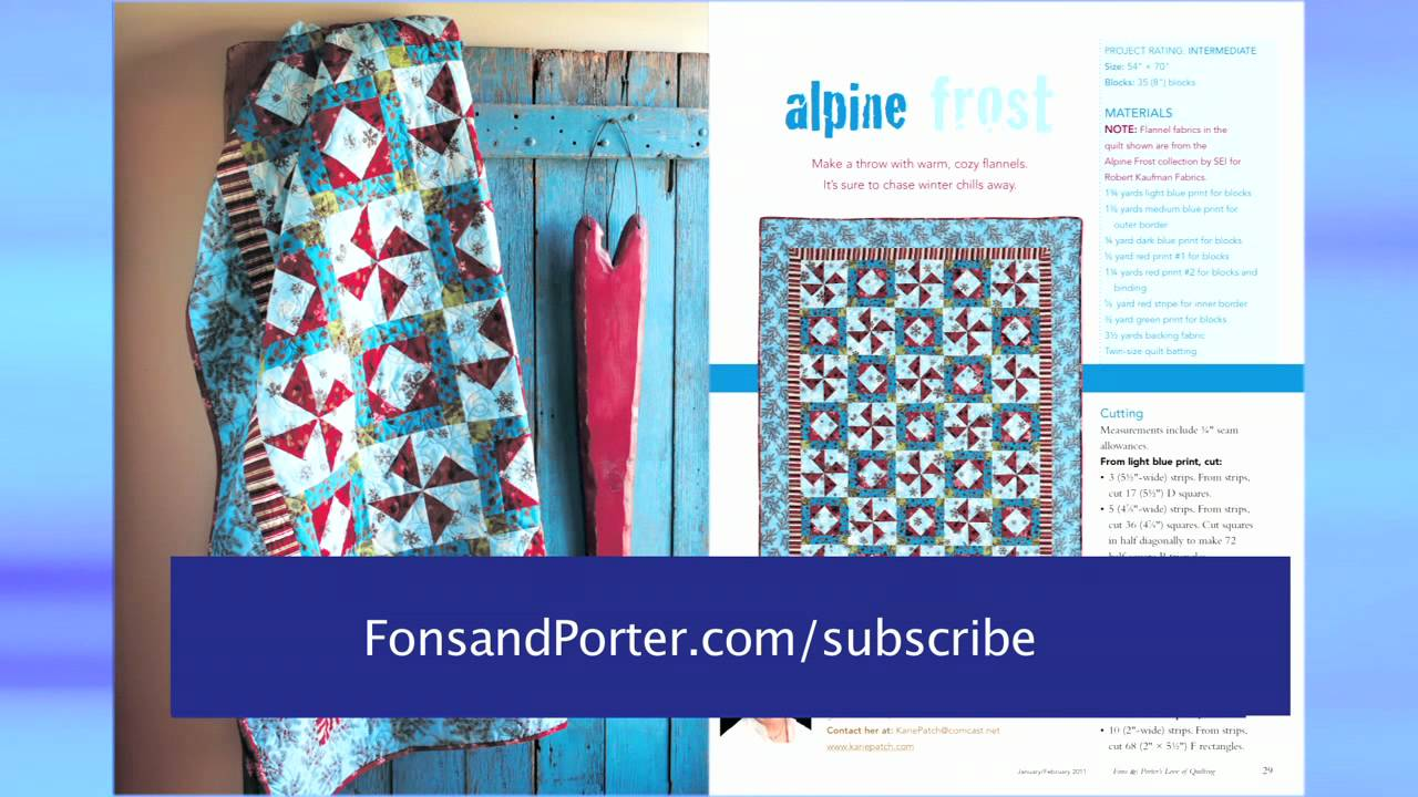 Fons Porters Love Of Quilting Magazine Offer Youtube