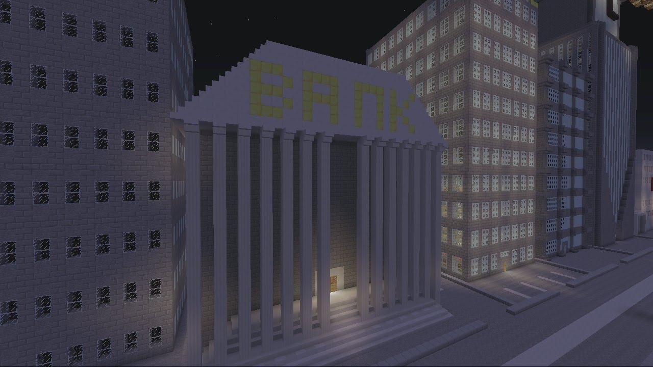Minecraft Gotham City: Bank - YouTube