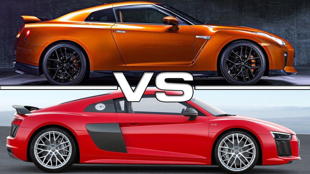 2017 Nissan GT-R vs 2017 Audi R8 V10 Plus - YouTube