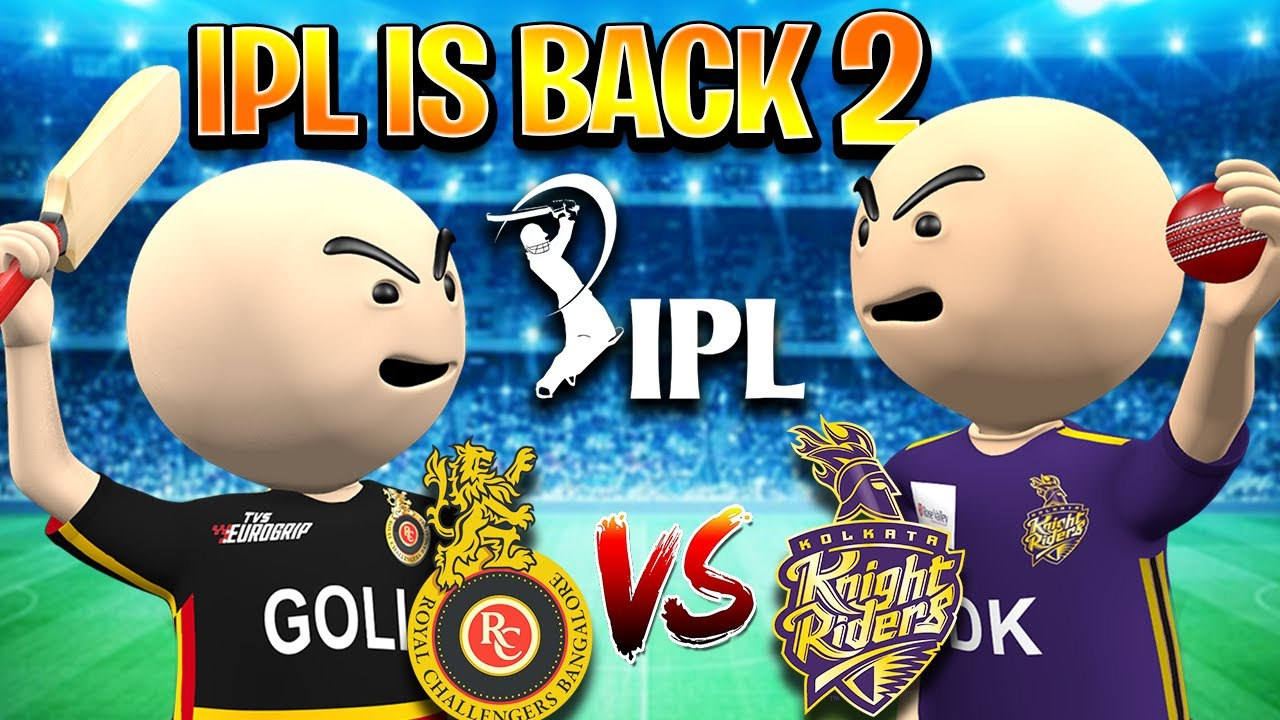 3D ANIM COMEDY - CRICKET IPL IS BACK || KKR VS RCB PART 2 || DESI COMEDY || IPL MATCH